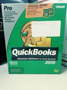Intuit QUICKBOOKS PRO 2005 FINANCIAL SOFTWARE SMALL BUSINESS PC/CD WINDOWS + KEY