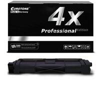 4x Eurotone Pro Cartucho Negro Compatible para Brother HL-3172-CDW HL-3142-CW