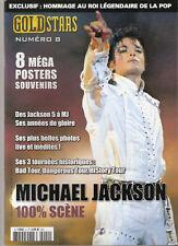 MICHAEL JACKSON MAGAZINE *GOLD-STARS* COLLECTOR 8 MEGA POSTERS SOUVENIR NEUF