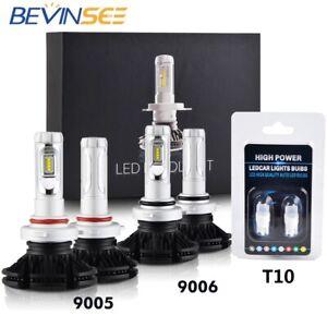 6pcs 9005 9006 T10 Combo LED Headlight High Low Beam Light Kit 6000K White Bulbs