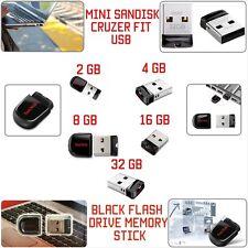 SanDisk 8/16/32/64GB CRUZER FIT USB Memory Stick Flash Pen Drive Small USB 2.0