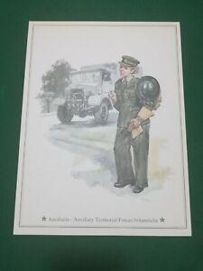 Vintage -  Ausiliaria -Auxiliary  TerrIitorial Forces UK  , vecchia stampa 21x28