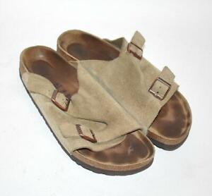 BIRKENSTOCK ZURICH Taupe Suede Sandals Soft Footbed Women's Size 41 EU, 10 US