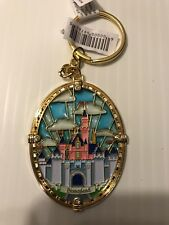 New Disney Parks Disneyland Stained Glass Princess Castle Keychain Free Shipping
