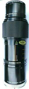 Canon 100mm f/4 Macro FD Mount Lens + Canon FD 50-U Extension Tube for 1:1 Macro