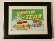 "Beautiful Framed  Vintage/ Retro ""Cream teas"" Picture Painting/Print"