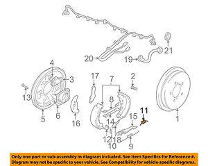 SUZUKI OEM 00-04 Vitara Brake-Rear-Brake Shoes Spring Left 5379252D00