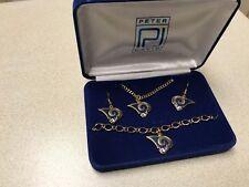 NFL Los Angeles Rams Jewelry Gift Set Earrings Bracelet Necklace