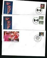 CANADA  1992  3 FDC definitive Queen & Flags   FDC # **   BOX 508