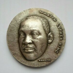 MARTIN LUTHER KING NOBEL PEACE PRIZE RARE PARIS MINT FRENCH SILVER MEDAL