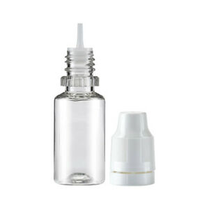 10ml Empty Plastic Squeezable Dropper Bottles Eye Liquid Oil TAMPER EVIDENT - UK