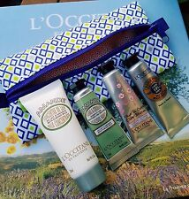 L'occitane Handcream, Body Lotion and Foot Cream Set In Pouch Cherry Blossom