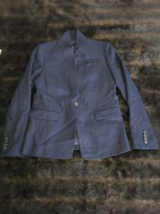 J Crew Navy Blue Womens Wool Blazer Jacket Size 6 Petite 6P