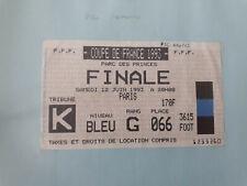 ticket billet football Finale coupe de France PSG / Nantes 12/06/1993