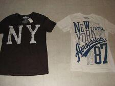 2PC Aeropostale T-Shirt For Men  Brown/Beige Sz XS- NWT