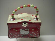 New HELLO KITTY Metal lunch Purse Bag Red