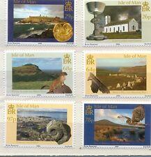 Isle of Man-Natural History-Birds etc set of 6 mnh (2006)