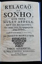 1732 Prophetic Dream Abdellah Sultan Morocco Oran Argelia D. Sebastião Portugal