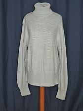 Carlisle Blue Silk / Cashmere Blend Turtleneck Sweater sz 2X