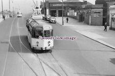 a0951 - Blackpool Tram - Tram outside Blackpool South Rail Stn. - photograph 6x4