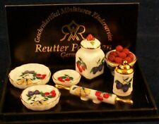REUTTER PORZELLAN DOLLHOUSE MINIATURE FRUIT KITCHEN SET NEW MINT