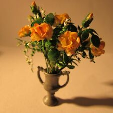 Roses in a vase ~ Doll house miniature ~1 twelfth