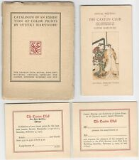 1905 Harunobu Color Print Exhibition Catalog + 3 Pieces of Exhibit Ephemera