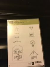 Stampin Up You Brighten My Day Clear Mount Stamp Set Brand New