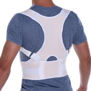 Posture Corrector Support Magnetic Back Shoulder Brace Belt Band For Mens Womens