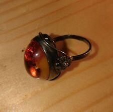 Bernstein Ring Damenring 17,8 mm Bernsteinring Silber Silberring Antik Antikring