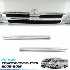 Chrome Blade Grille Grill Line Cover Trim ABS For Toyota Hiace Commuter 2005-On
