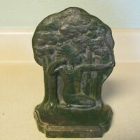 VINTAGE CAST ALUMINUM WITH BOW BOOKEND!