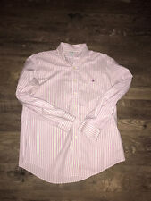 Mens Brooks Brothers Non Iron Slim Fit Logo Button Down Collar Shirt Size L