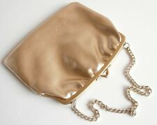 Vintage Gold Faux Leather Chain Handle Wedding Party Evening Bag Handbag Purse