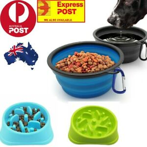 Pets Dog Plastic Slow Feeder & Grade silicon Bowl Puzzle Food Water healthy Dish