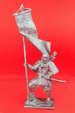 Tin Figurine 54 mm TOP QUALITY Soldier Japanese warrior monk with a flag 1185
