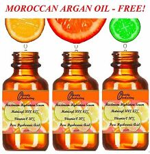 30% Vitamin C, 45% Matrixyl 3000 100% Hyaluronic acid,2.2oz w Free Argan Oil !
