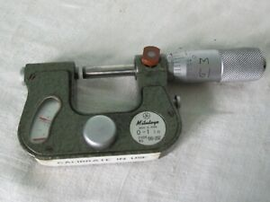 "MITUTOYO INDICATING MICROMETER 0 to 1.0""  .0001""  No. 510-202"