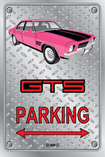 Parking Sign - Metal - HOLDEN HQ - GTS 4 DOOR - PINK - CENTERLINE WHEELS
