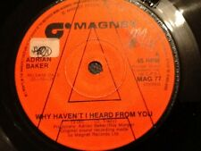 ADRIAN BAKER . WHY HAVEN'T  I HEARD FROM YOU 1976 . U.K. DEMO . RARE
