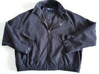 vintage Polo Ralph Lauren Harrington Jacket BLACK Bomber Plaid Lined Sz XXL