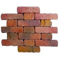 16 pcs Plastic molds ANTIQUE BRICK VENEER for concrete plaster wall brick tiles