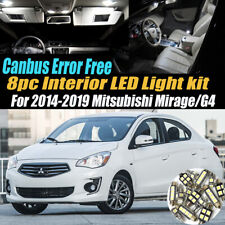 8Pc Error Free White Interior LED Light Kit for 2014-2019 Mitsubishi Mirage/G4