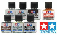 Tamiya 田宮 タミヤ Panel Line Figure Accent Color 87131~87201 (40ml) For Model Kit