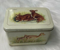 VTG BRISTOW'S OF DEVON Collectible Metal Tin Animals Countryside Collection EUC