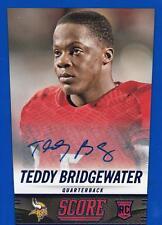 2014 Score Rookie Signatures Blue #426 Teddy Bridgewater Vikings