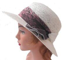 Mujer Sombrero De Paja Con schiffonband caso protección contra el sol