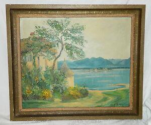 Ölbild (No 8) Adolf Röder (1904 - 1983) Bergischer Künstler Fraueninsel Chiemsee