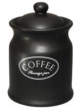Tuftop empresa Ascot Café Negro almacenamiento Frasco Tarro Recipiente Olla De Cerámica Nuevo