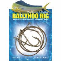 3 Ballyhoo Pin Rig Wire 8/0 Hook Wahoo Dolphin Mahi Tuna Ilander Lure Rigging